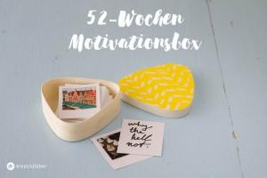 52 Wochen motivationsbox geschenkidee