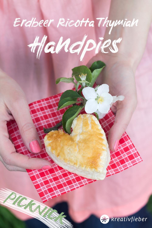 Picknick Rezepte Erdbeer Handpies Blätterteig