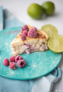 Himbeer Limetten Käsekuchen - sommerlichen Cheesecake backen - Kreativfieber