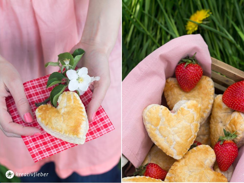 Erdbeer Ricotta Thymian Handpies Rezept für Picknick