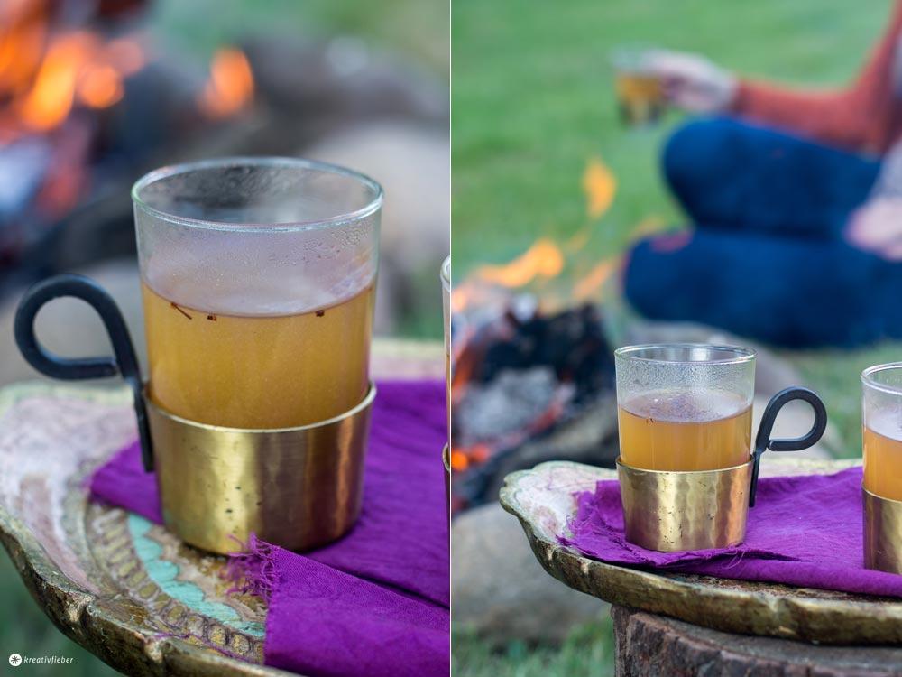 Chai Latte to go - Chaipulver zum Mitnehmen für Unterwegs mischen - Glamping Rezeptideen