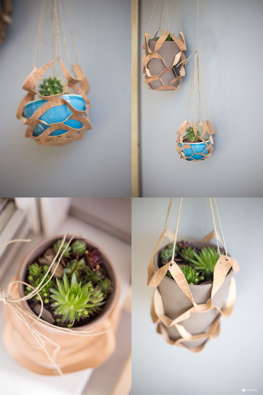 diy korknetz - vertical gardening - netz aus kork schneiden