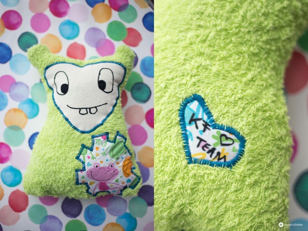 DIY Kuschelmonster nähen ohne Schnittmuster - Geschenkidee zur Geburt - Nähideen für Kinder