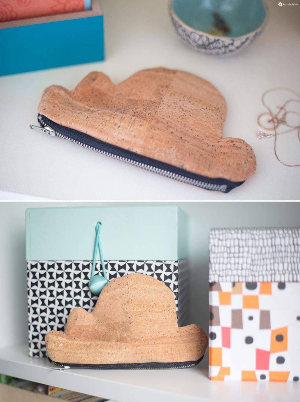 DIY Wolkentasche aus Kork nähen - kleine schnelle Geschenkidee - DIY mit Kork