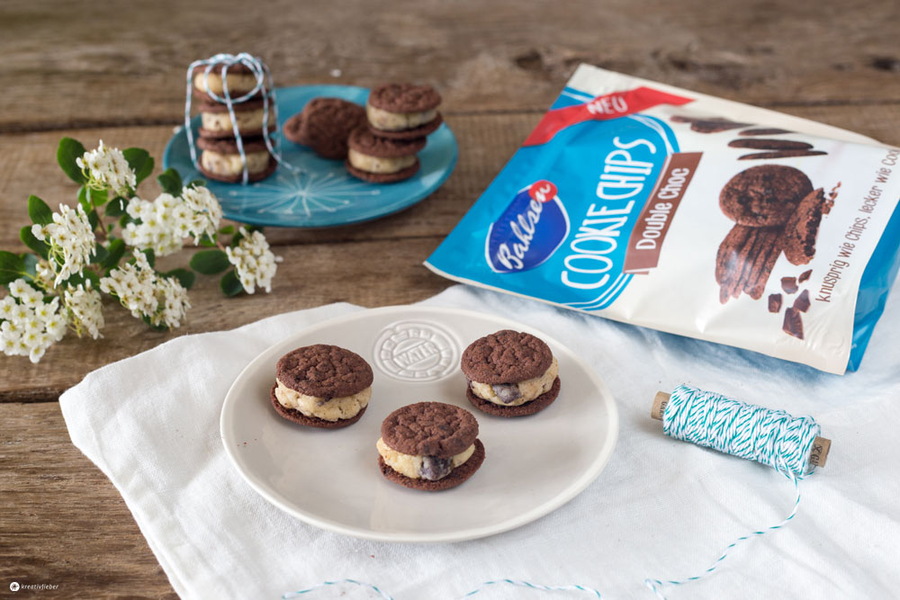 Double Choc Cookie Dough Sandwiches und Bahlsen Sweets on Streets Tour 2016 - Kreativfieber