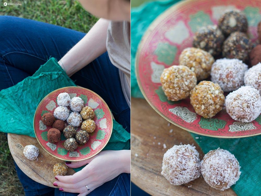 Energyballs-Rezepte---Kokos-Limette,-Feige-Kakao-und-Aprikose-Mandel---drei-verschiedene-Varianten-selbermachen