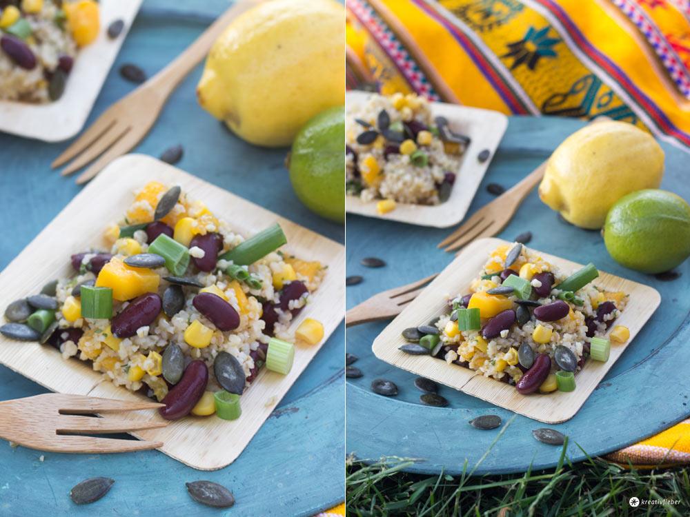 Mango Bulgur Salat - Glamping Rezeptideen
