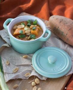 Süßkartoffel Kokos Curry - Glamping Rezeptideen