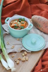 Süßkartoffel Kokos Curry - Glamping Rezeptideen - vegetarisches Curry kochen