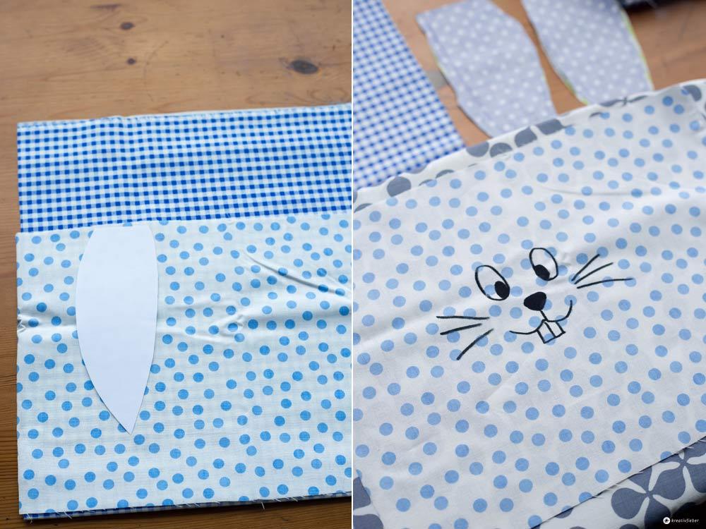 DIY-Hasenrucksack-für-Kinder---Ohren-ausschneiden-und-Hasengesicht-aufmalen