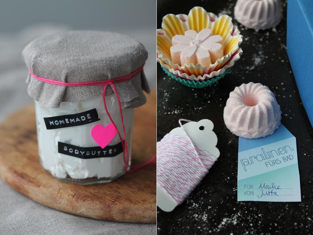 DIY Kosmetik - Geschenke zur Geburt für die Mama