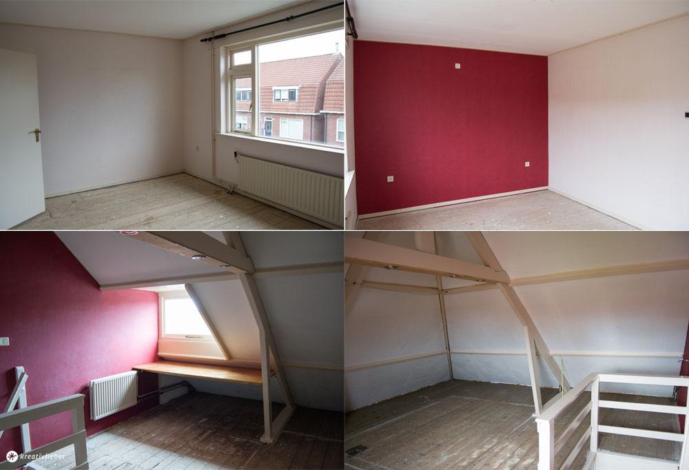 Schlafzimmer und Dachboden Haustour