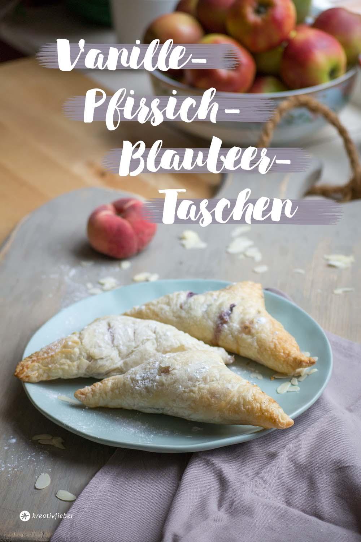 vanille Pfirsich Blaubeer taschen