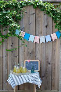 DIY Deko für Gartenparty