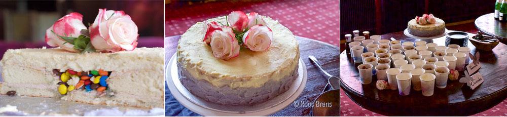 ombre torte hochzeitstorte smarties m&ms lila