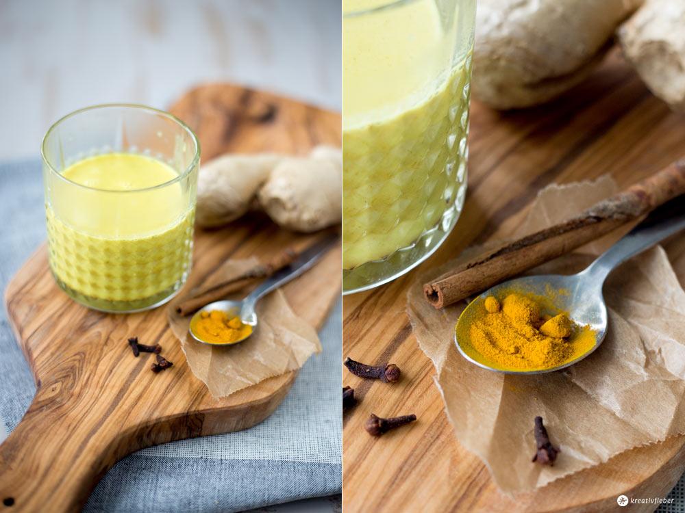 Goldene Milch selbermachen - Mit Kokosmilch und Kurkurma - Energieschub am Nachmittag