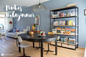 Wohnzimmer styling industriell mix
