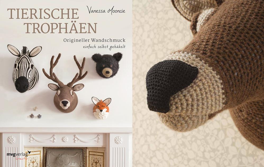 Buchtipp Tierische Trophäen mit gratis Anleitung DIY Hirschkopf häkeln