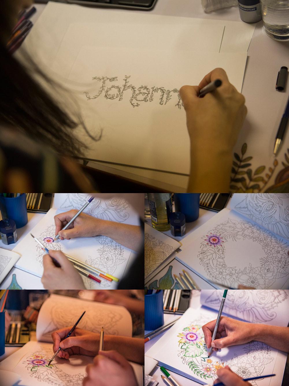 Adult Coloring Workshop mit Johanna Basford und Staedler - Kreativfiber