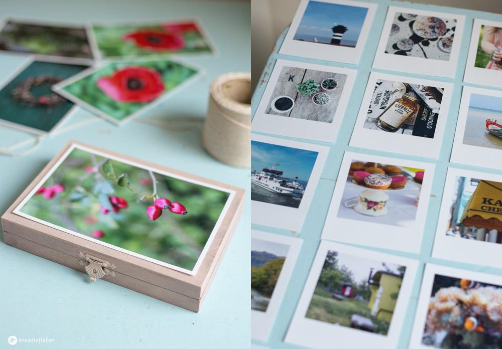 DIY Fotogeschenk mit Fotos mit Polaroid Style selbermachen
