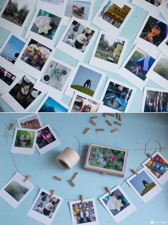 DIY Fotogeschenk mit Fotos mit Polaroid Style