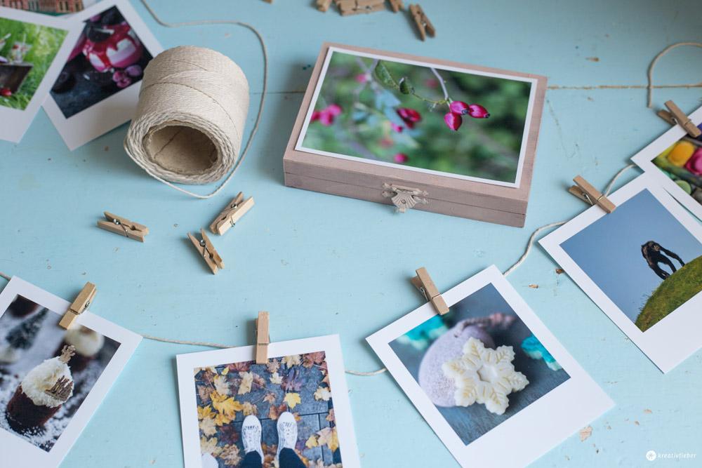 DIY Gutschein Girlande mit Polaroid Fotos selbermachen - DIY Geschenkidee mit Fotos