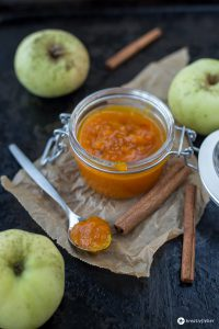 Kürbismarmelade mit Apfel und Ingwer - kleine Geschenke aus der Küche