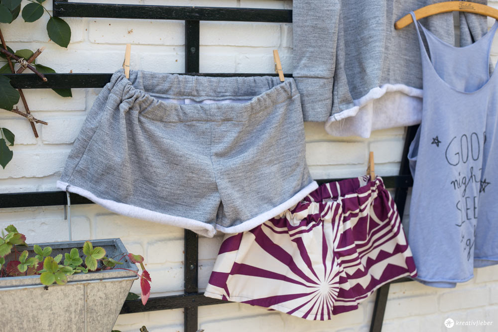 Kuschelige Short nähen - DIY Loungewear Set