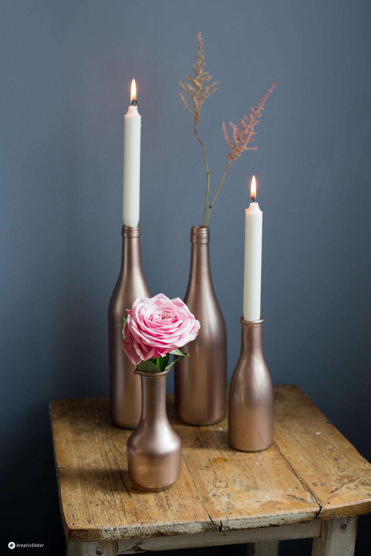Tischdeko in Metallic Tönen selbermachen - für die nächste Dinnerparty oder als Hochzeitsdeko