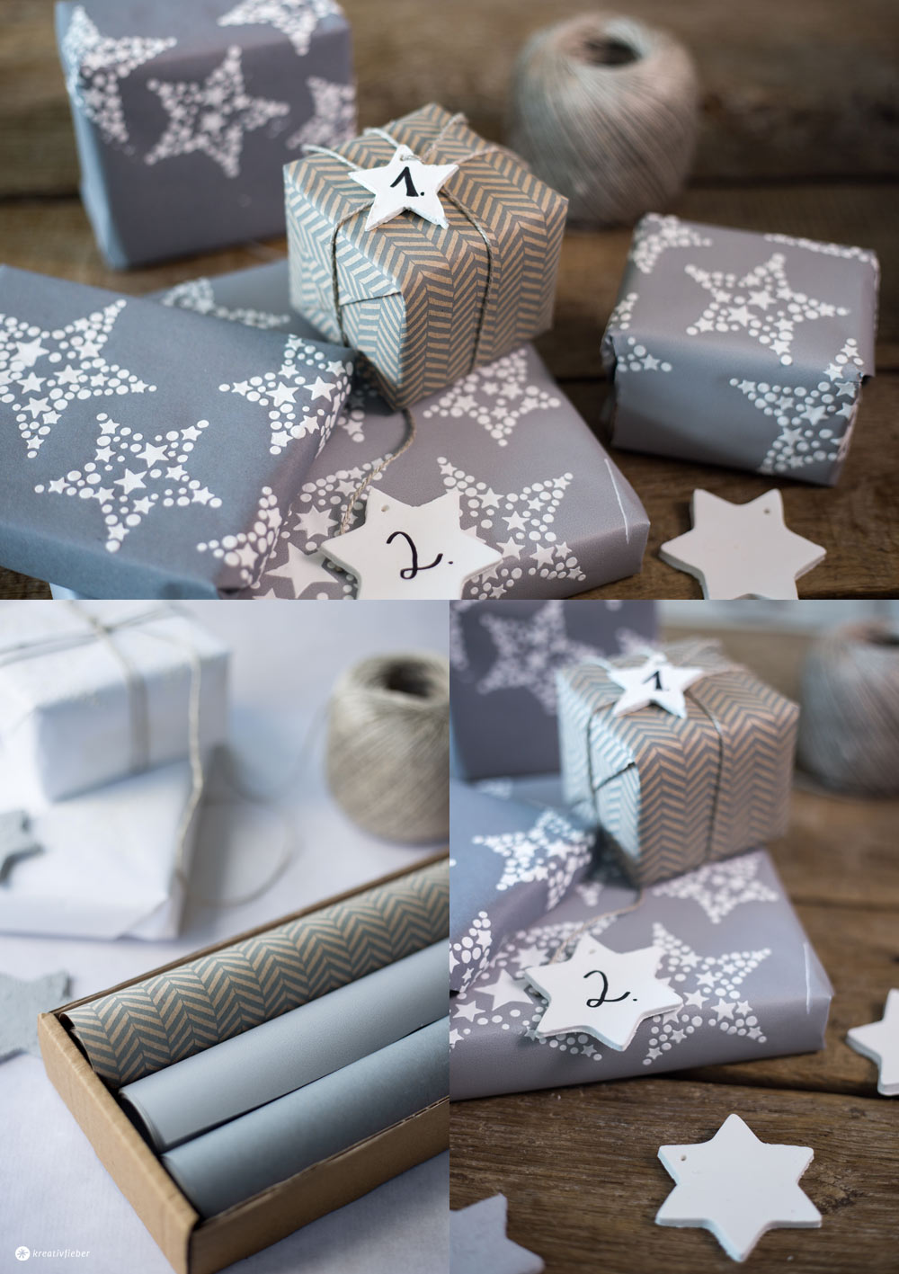 diy adventskalender verpackung papier upcycling betonanh nger. Black Bedroom Furniture Sets. Home Design Ideas