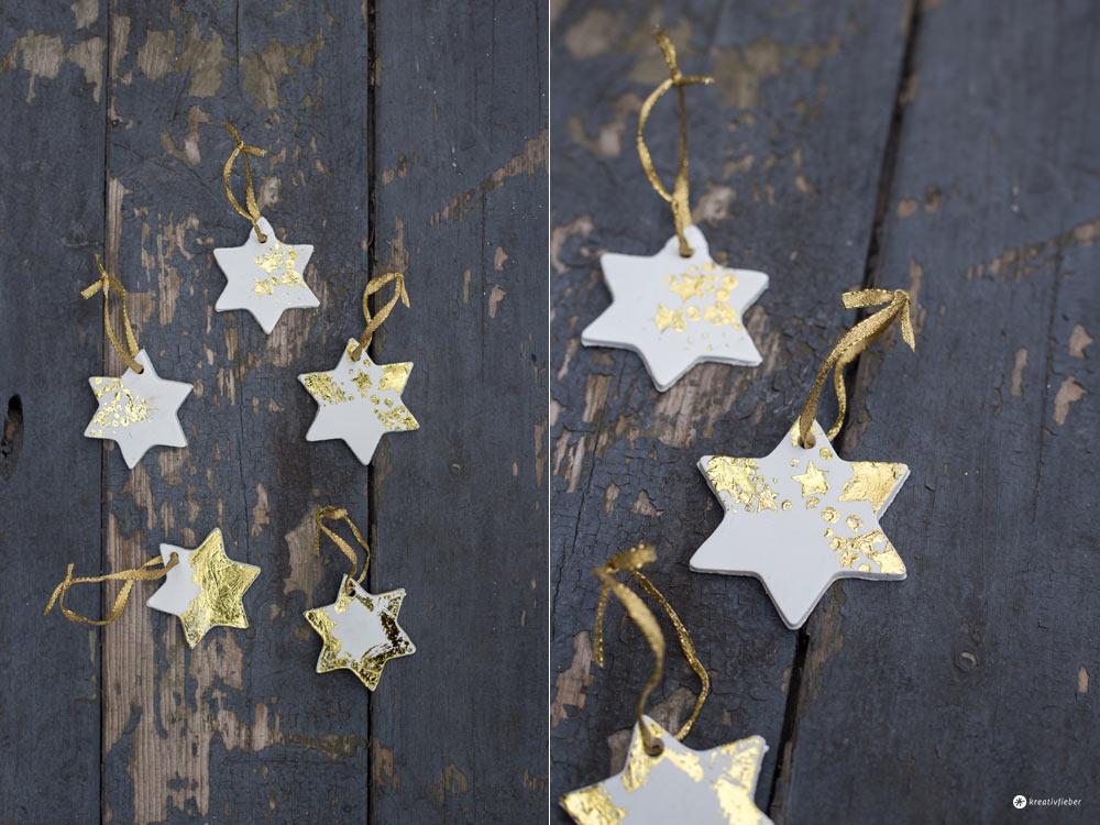Diy Sternenanhänger Mit Gold Weihnachtsbaumanhänger Basteln