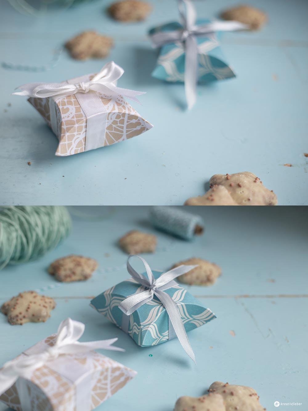 DIY kleine Geschenkschachteln falten - Schritt für Schritt Anleitung - Kreativfieber