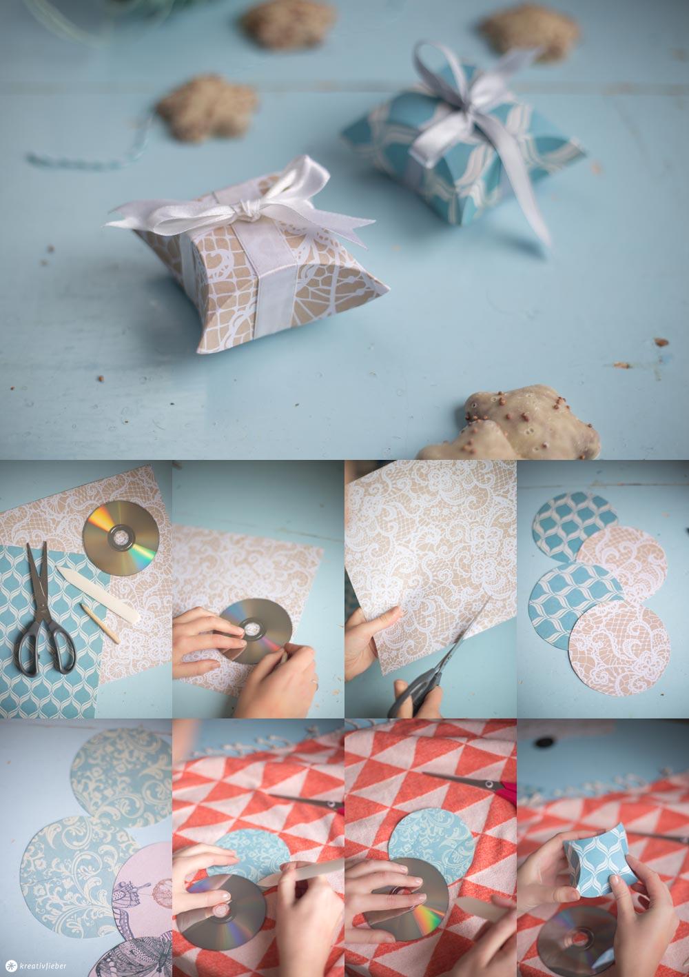 DIY kleine Geschenkschachteln falten - Schritt für Schritt Anleitung