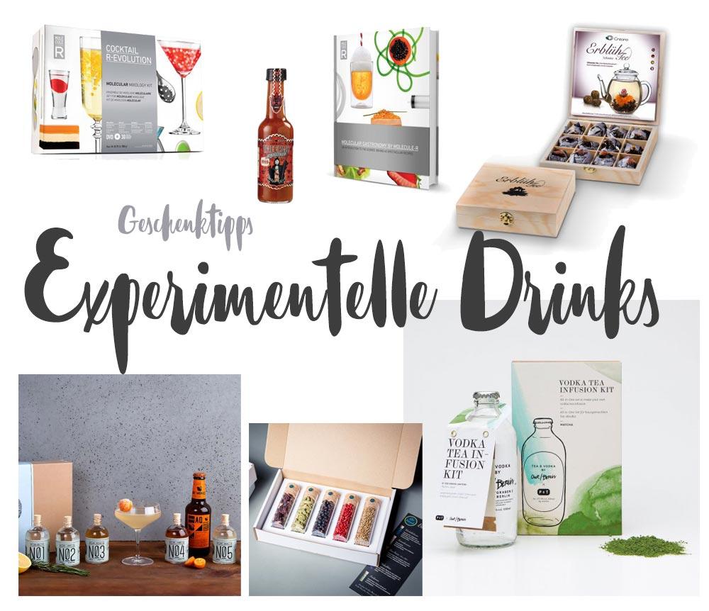 Experimentelle Drinks - Geschenktipps für kulinarische Experimente - Geschenktipps für Cocktailfans
