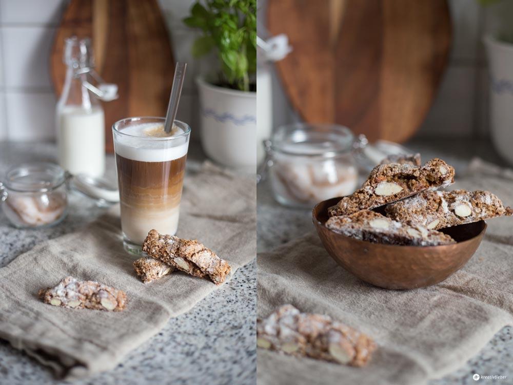 Kaffee Cantuccini Stangen Rezept - kleines Gebäck zum Kaffee selbermachen - #machdeineigenescafé Kreativfieber