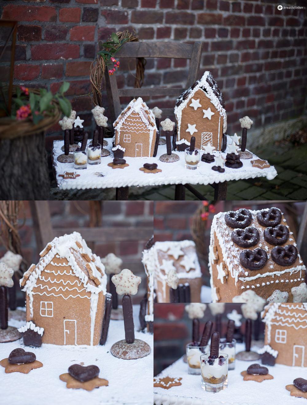 Lebkuchenhaus Dessertplatte - leckeres Weihnachtsdessert