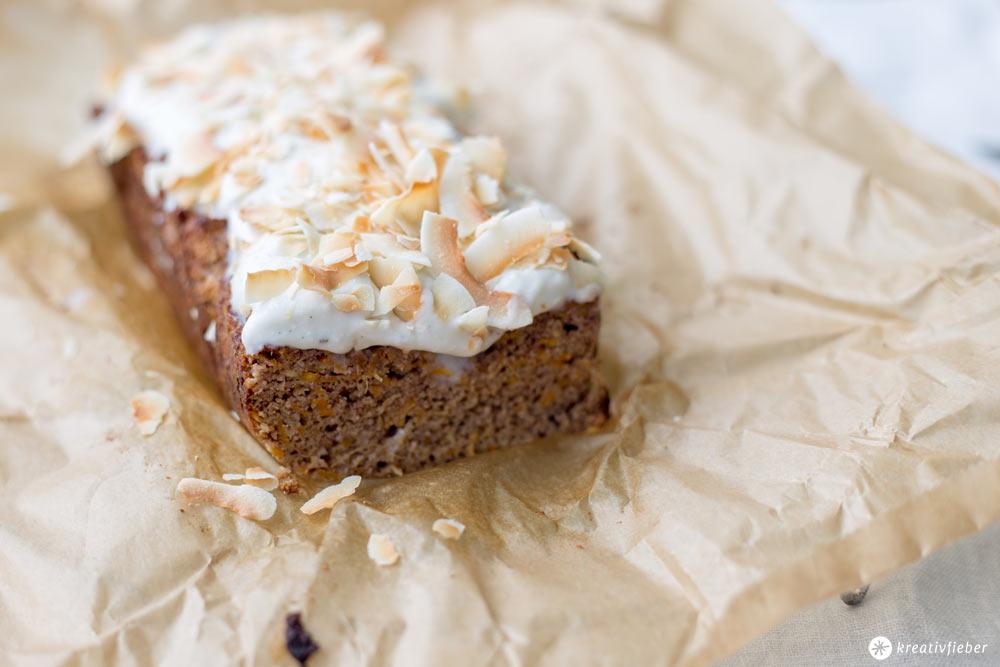 Paleo Kartottenkuchen mit Kokosfrosting - mit Kokosmehl - Glutenfrei