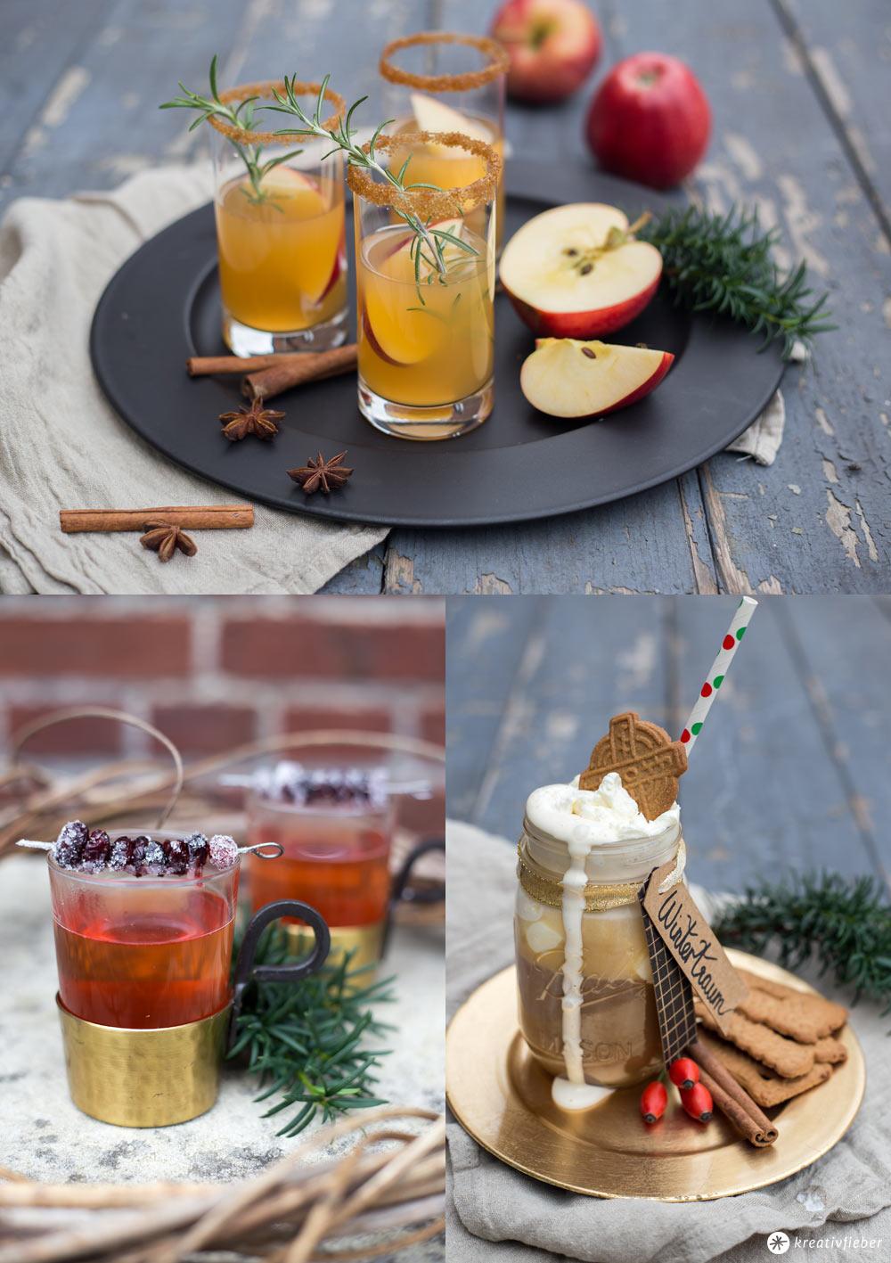 Weihnachtliche Getränke selbermachen - Rezeptideen