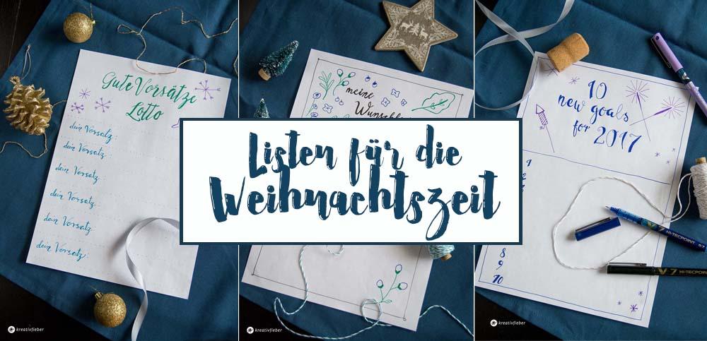 listen schreiben wunschzettel neujahr
