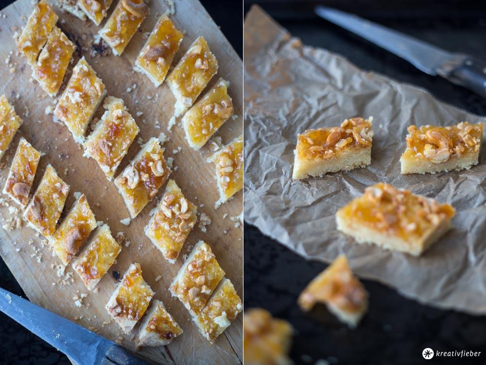 Aprikosen Shortbread mit Cashews - Weihnachtplätzchen backen - Kekse für Weihnachten