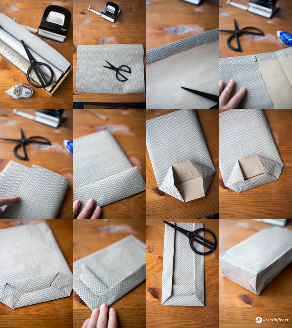 DIY Geschenktüten falten - Schritt für Schritt