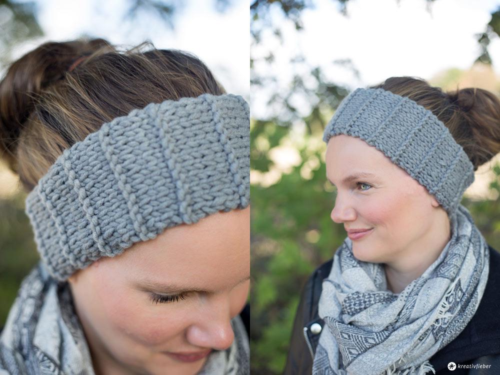 DIY Stirnband mit Rippen stricken - kleine Geschenkidee
