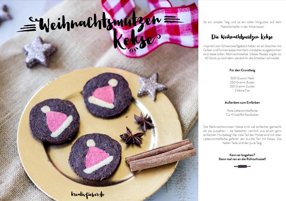 Sparkling Christmas Blogger Ebook - 15 DIYs und Rezepte für Weihnachten - Weihnachtsmützenkekse