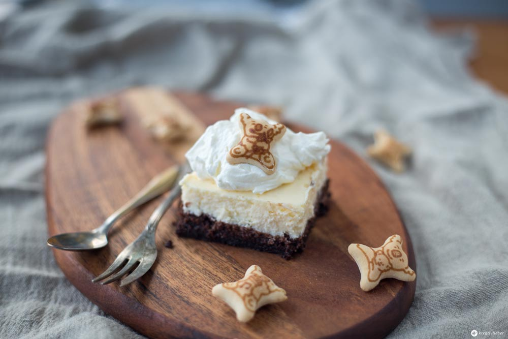 Brownie Cheesecake Schnitten mit Koalas backen