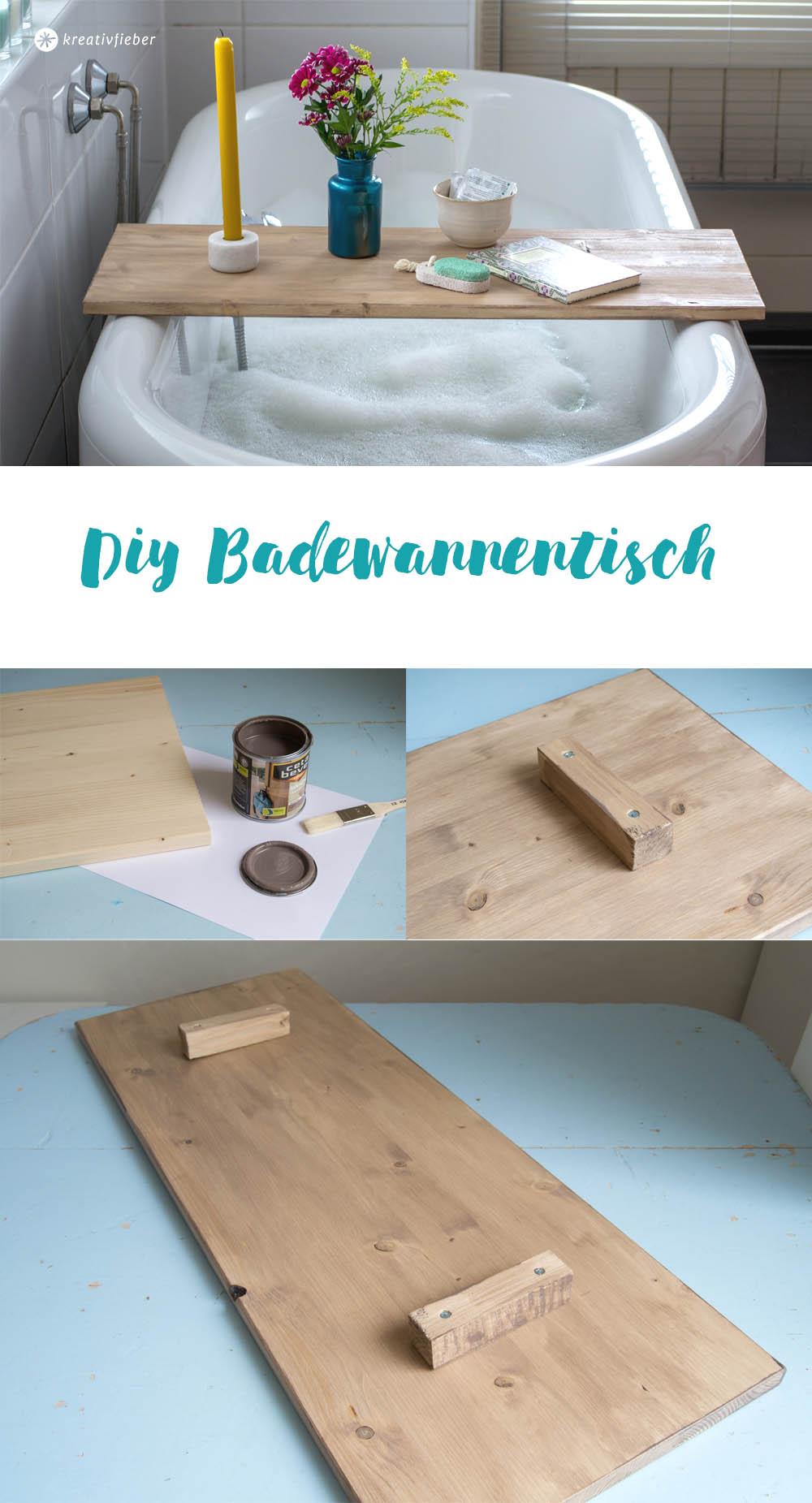 schritt für schritt Anleitung badewannentisch diy