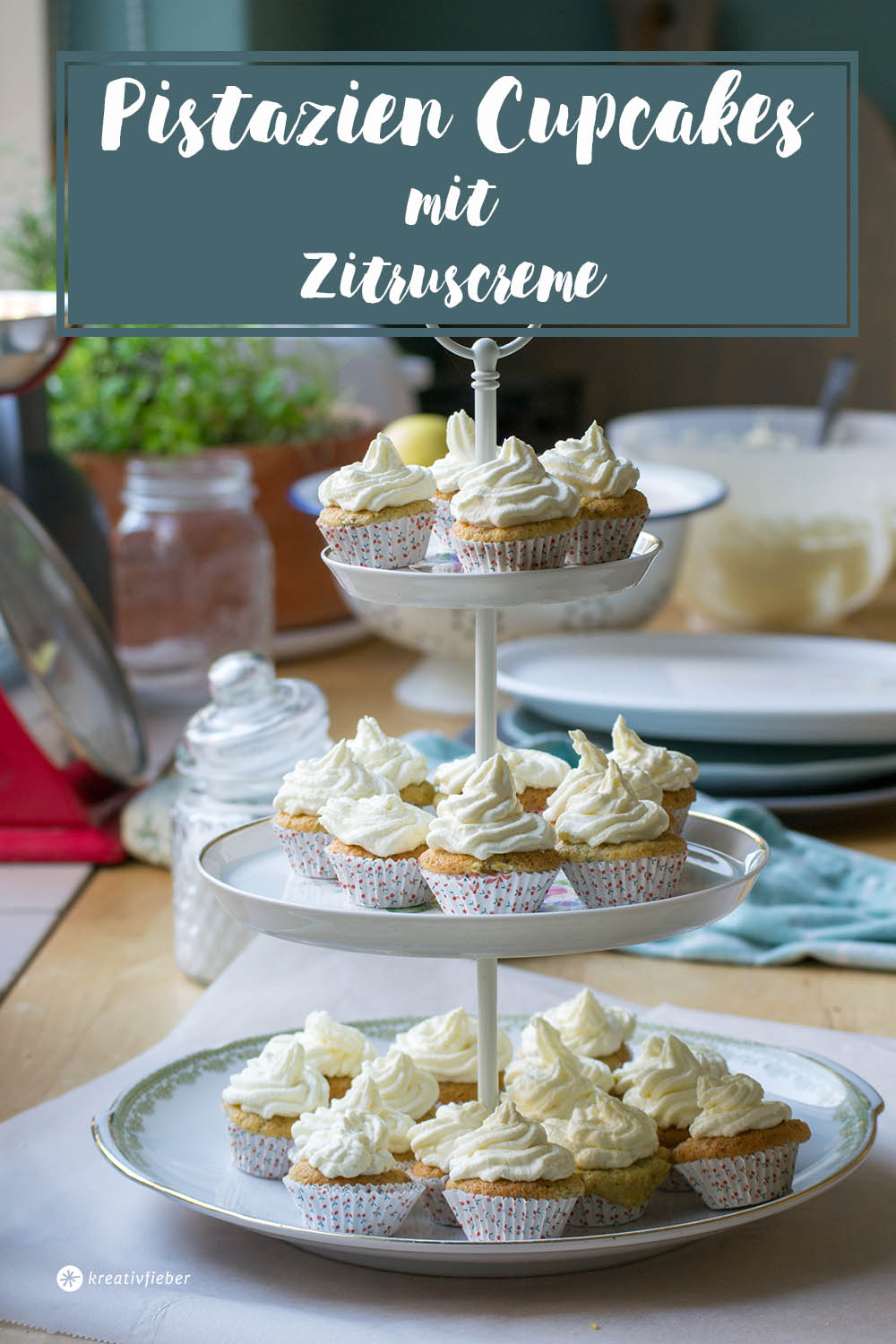 piattine minicupcake mit zitrustopping