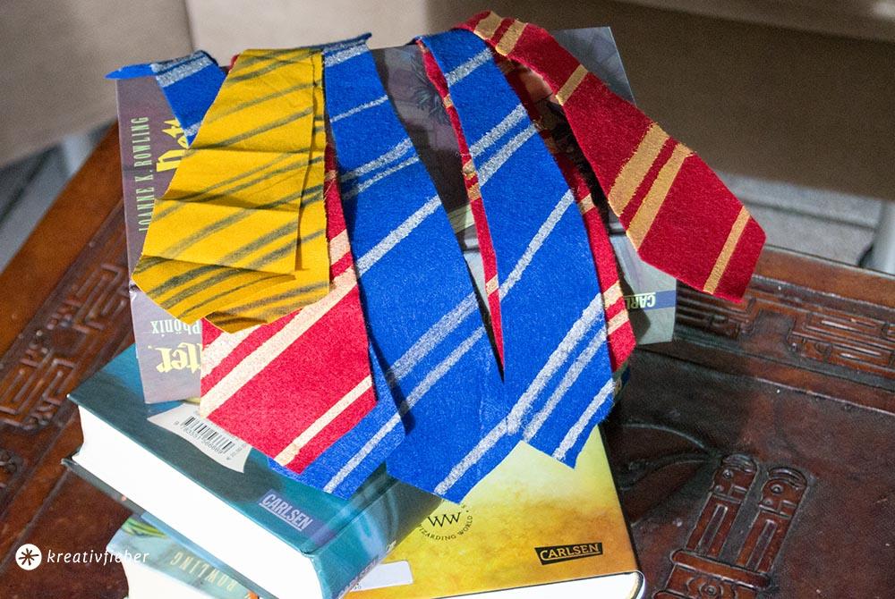 Hogwarts Krawatten basteln