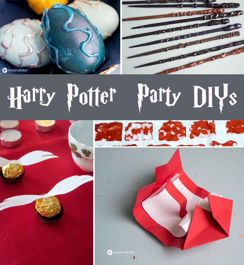Harry Potter Party Ideen DIY Karneval Fasching Halloween