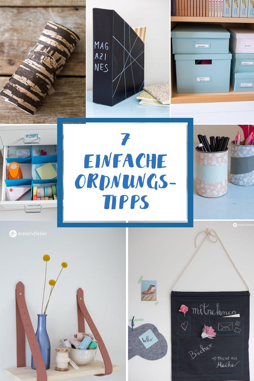 7 Tipps für Ordnung zu Hause DIY