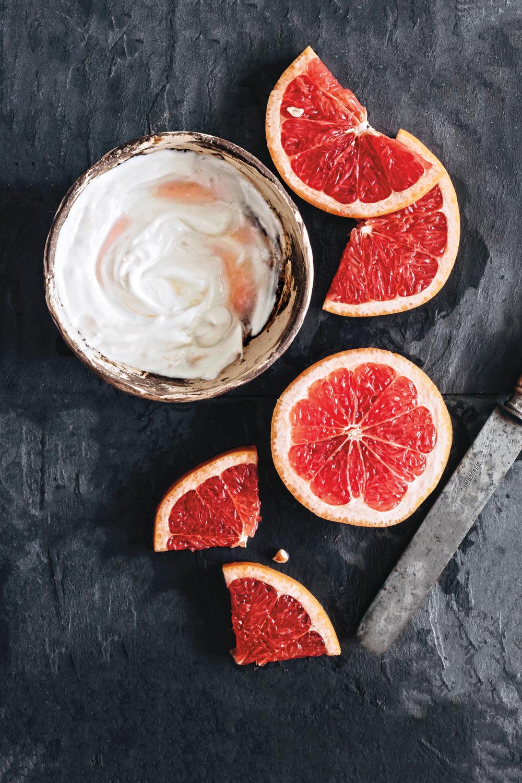 Grapefruit Detox Maske - DIY Naturkosmetik Rezept aus hello glow - Rezension Kreativfieber